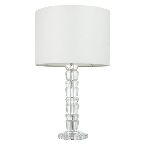 Buy John Lewis Janey Glass Totem Table Lamp Online at johnlewis.com