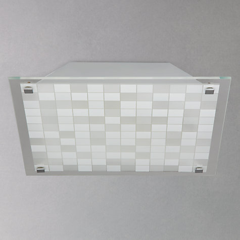 Buy John Lewis Jasper Square Patterned Flush Ceiling Light Online at johnlewis.com