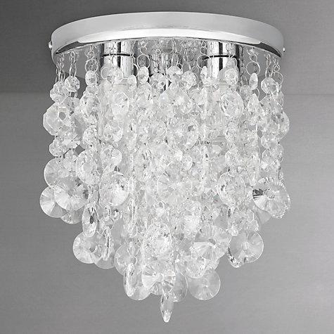 Buy John Lewis Katelyn Crystal Bathroom Flush Ceiling Light John Lewis