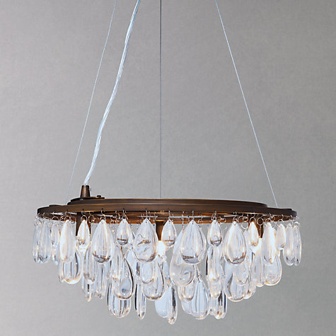 Buy John Lewis Lizbeth Flat Resto Chandelier, 3 Light, Bronze Online at johnlewis.com