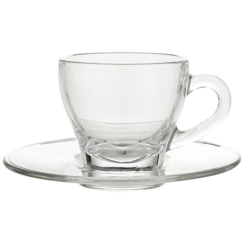 Buy John Lewis Cafe Cup & Saucer, Set of 2 Online at johnlewis.com