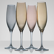 Buy LSA Polka Metallic Flutes, 0.23L, Set of 4 Online at johnlewis.com