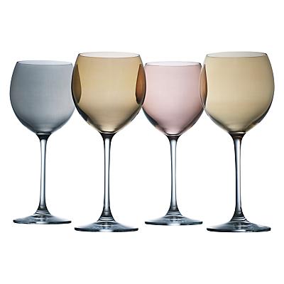 LSA International Polka Metallic Wine Glasses, Set of 4
