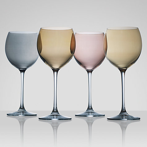 Buy LSA Polka Metallic Wine Glasses, Set of 4, Multi Online at johnlewis.com