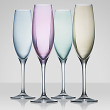 Buy LSA International Polka Pastel Flutes, 0.23L, Set of 4 Online at johnlewis.com