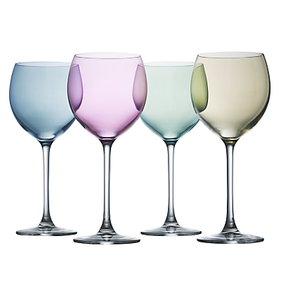LSA International Polka Pastel Wine Glasses, 0.4L, Set of 4