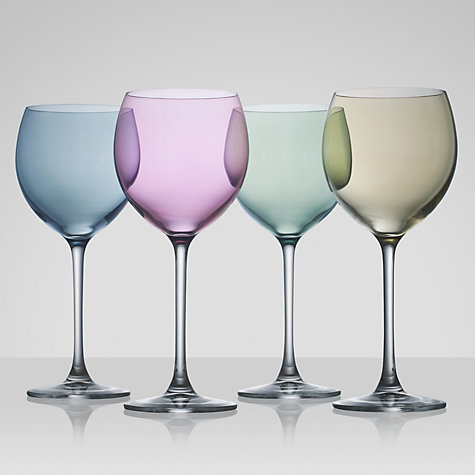 Buy LSA Polka Pastel Wine Glasses, 0.4L, Set of 4, Multi Online at johnlewis.com