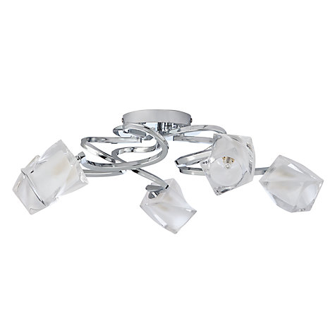 Buy John Lewis Nembus Semi-flush Ceiling Light, Chrome, 5 Arm Online at johnlewis.com
