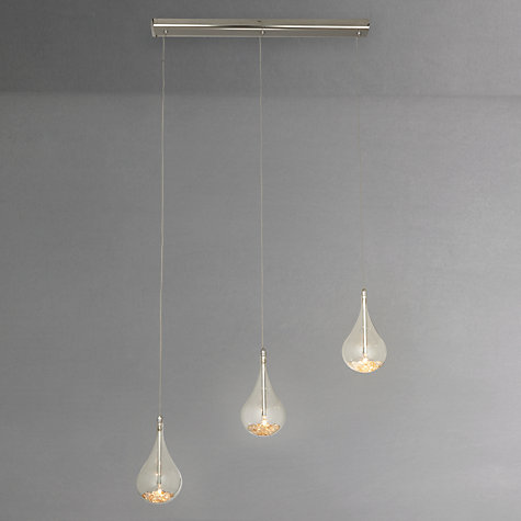Buy John Lewis Sebastian Linear 3 Light Semi-flush Ceiling Light Online at johnlewis.com