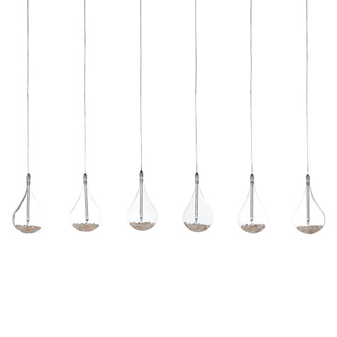Buy John Lewis Sebastian Linear 6 Light Semi-flush Ceiling Light Online at johnlewis.com