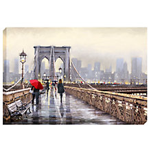 Buy Richard Macneil  - Brooklyn Bridge Print on Canvas, 70 x 100cm Online at johnlewis.com