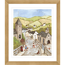 Buy Janice Mcgloine - Countryside Church Framed Print, 57 x 66cm Online at johnlewis.com