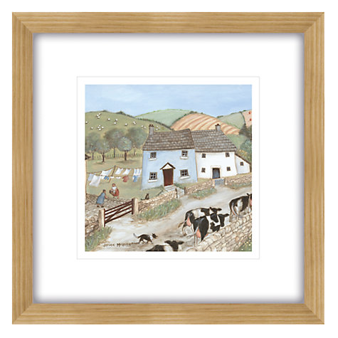 Buy Janice Mcgloine - Country Side Cows Framed Print, 57 x 57cm Online at johnlewis.com