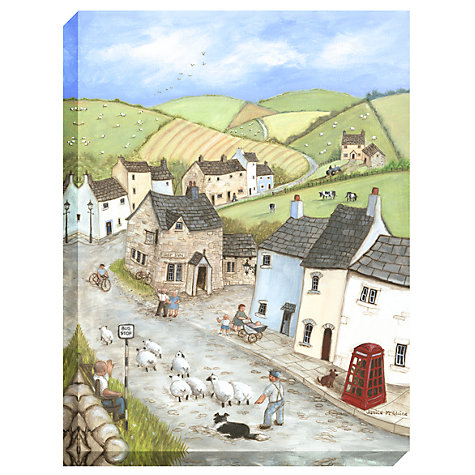 Buy Janice Mcgloine - Countryside Pub Print on Canvas, 80 x 60cm Online at johnlewis.com
