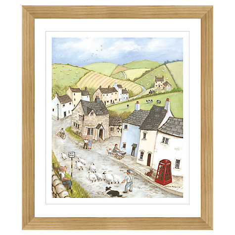 Buy Janice Mcgloine - Countryside Pub Framed Print, 57 x 66cm Online at johnlewis.com