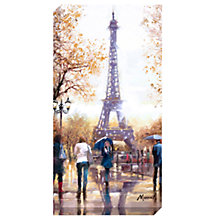 Buy Richard Macneil - Eiffel Tower Print on Canvas, 80 x 40cm Online at johnlewis.com