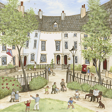 Buy Janice Mcgloine - Park Gate Print on Canvas, 50 x 50cm Online at johnlewis.com