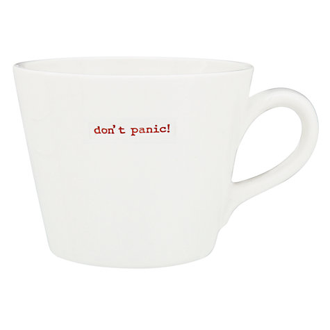 "Buy Keith Brymer Jones Word ""Don't Panic"" Mug Online at johnlewis.com"