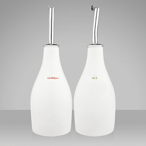 Buy Keith Brymer Jones Word Oil and Vinegar Bottles Online at johnlewis.com