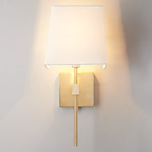 Buy John Lewis Berkley Wall Light, Brass Plate Online at johnlewis.com