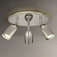 Buy John Lewis Modena  LED Backlight Spotlight, Silver, 3 Light Online at johnlewis.com