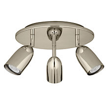 Buy John Lewis Modena Spotlight, Silver, 3 Light Online at johnlewis.com