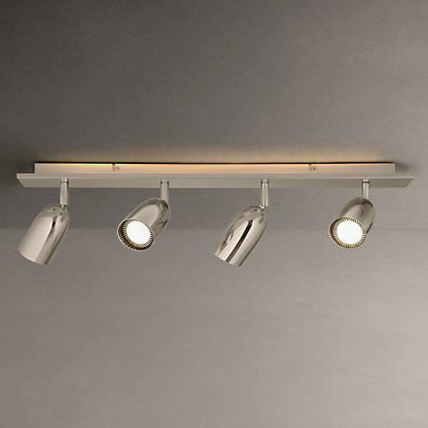 Buy John Lewis Modena Spotlights, Silver, 4 Light Online at johnlewis.com