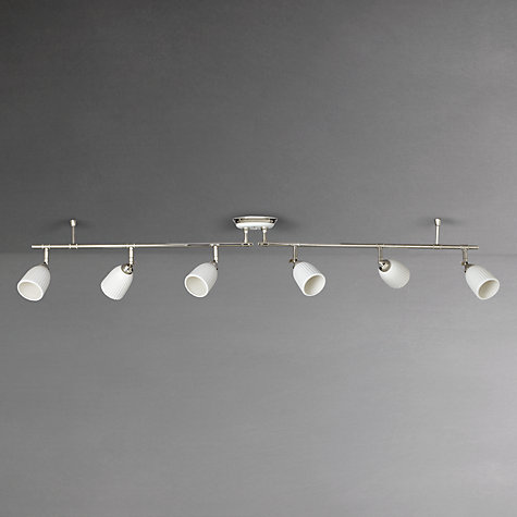 Buy John Lewis Valencia Spotlight Ceiling Bar, 6 Light, Satin Nickel Online at johnlewis.com