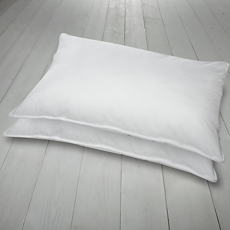 Buy John Lewis Premium Synthetic Pillows, Pair, Medium Online at johnlewis.com