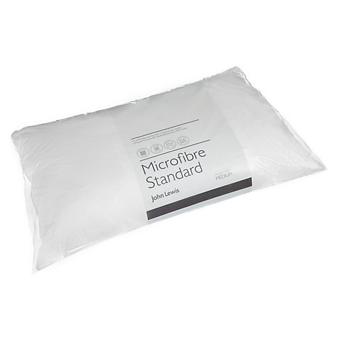 Buy John Lewis New Microfibre Standard Pillow, Medium/Firm Online at johnlewis.com