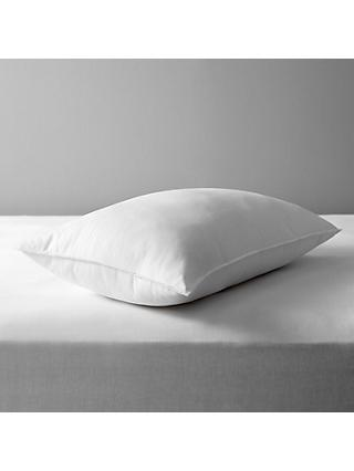 John Lewis & Partners Synthetic Soft Touch Washable Standard Pillow, Medium/Firm