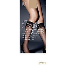 Buy John Lewis 10 Denier Ladder Resist Knee High, Pack of 1 Online at johnlewis.com