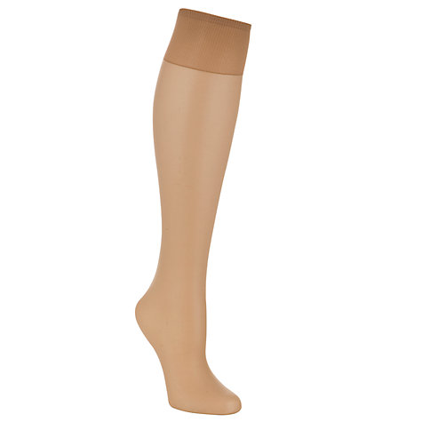 Buy John Lewis 10 Denier Ladder Resist Knee High Tights, Pack of 1 Online at johnlewis.com