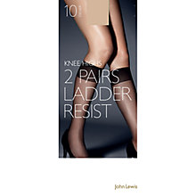 Buy John Lewis 10 Denier Ladder Resist Knee High, Pack of 2 Online at johnlewis.com