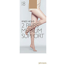 Buy John Lewis 7 Denier Medium Support Knee Highs Online at johnlewis.com