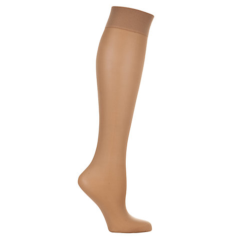 Buy John Lewis 7 Denier Medium Support Knee High Tights, Pack of 2 Online at johnlewis.com