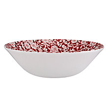 Buy Burleigh Calico Cereal Bowl, Dia.16cm, Red Online at johnlewis.com