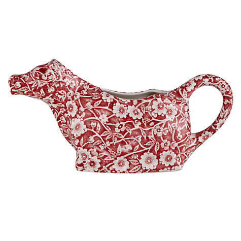 Buy Burleigh Calico Cow Creamer, Red Online at johnlewis.com
