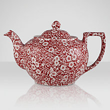 Buy Burleigh Calico Teapot, 1L, Red Online at johnlewis.com