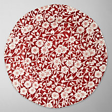 Buy Burleigh Calico Plate, Dia.19cm, Red Online at johnlewis.com
