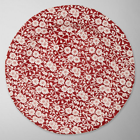 Buy Burleigh Calico Dinner Plate, Dia.26cm, Red Online at johnlewis.com