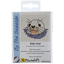 Buy Mouseloft Mini Baby Seal Cross Stitch Kit Online at johnlewis.com