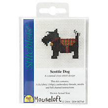 Buy Mouseloft Scotty Dog Cross Stitch Design Online at johnlewis.com