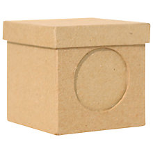 Buy Decopatch Square Box With Lid and Photo Hole Online at johnlewis.com