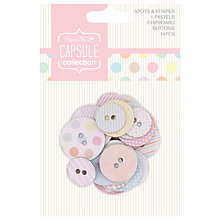 Buy Docrafts Papermania Capsule Collection Pastel Chipboard Buttons, Pack of 24 Online at johnlewis.com