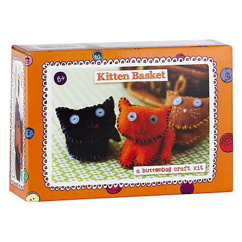 Buy Buttonbag Kitten Basket Craft Kit Online at johnlewis.com