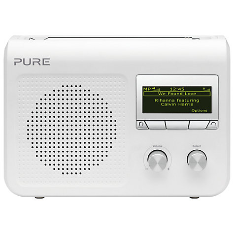 Buy Pure One Flow Portable DAB and Internet Digital Radio, White Online at johnlewis.com