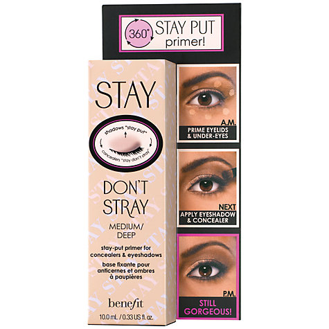 Buy Benefit Don't Don't Stray Stay-Put Primer for Concealers & Eyeshadows, Medium/Deep Online at johnlewis.com