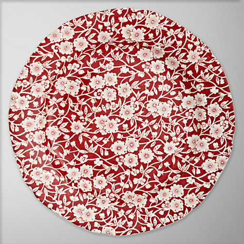 Buy Burleigh Calico Dessert Plate, Dia.21cm, Red Online at johnlewis.com
