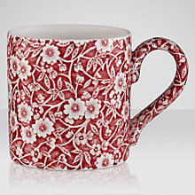 Buy Burleigh Calico Mug, 0.29L, Red Online at johnlewis.com
